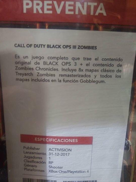Treyarch 噂:新たな「ゾンビクロニクル」DLCが『CoD:BO3』