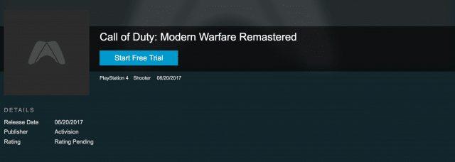 噂:『CoD:MWR』 2017年6月に単体リリースか