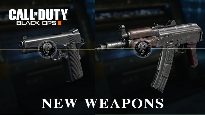 """CoD:BO3: 新武器「AK74u」と「M1911」追加、動く限定迷彩""""Into the Void""""も"""