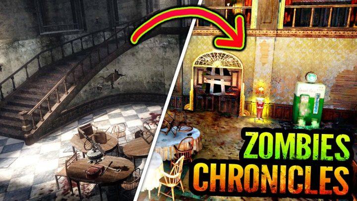 CoD:BO3:「ゾンビクロニクル」でリメイク、人気の劇場研究施設「Kino der Toten」の比較動画&画像