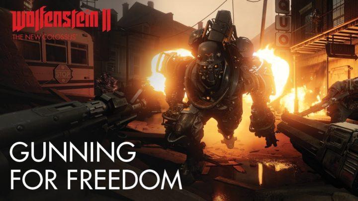 "WolfensteinII: The New Colossus: 両手にショットガンなど、自由度の高いゲームプレイに迫る解説映像""Gunning For Freedom""(日本語)"