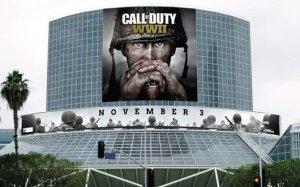 CoD:WWII:E3にてマルチだけじゃなくキャンペーンのゲームプレイも登場、会場には巨大垂れ幕も