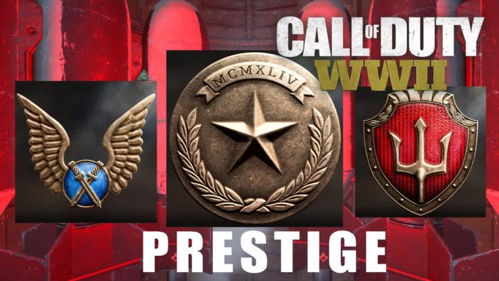 CoD:WWII:プレステージアイコン公開、ひと目で分かりやすいデザインに(1~3周目)