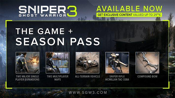 リアルスナイパーFPS『スナイパー ゴーストウォーリアー3』:ローンチトレーラー公開、10月5日発売