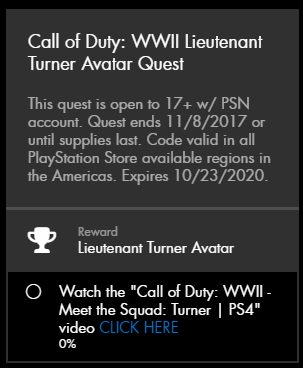 CoD:WWII アバター