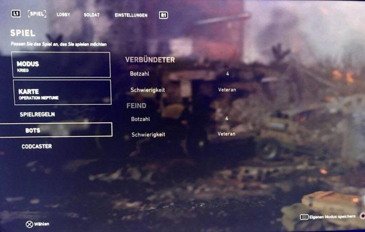 CoD:WWII: 新ゲームモード「ウォーモード」はボット対応、12人でのオフラインプレイが可能か