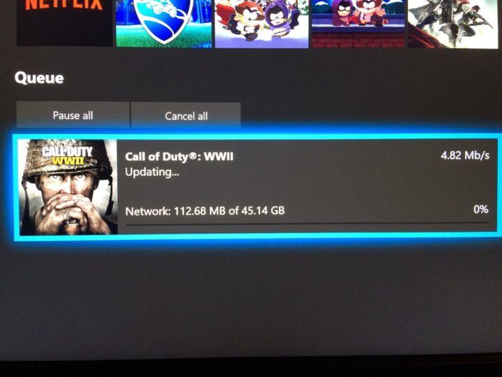 Xbox One事前ダウンロード開始