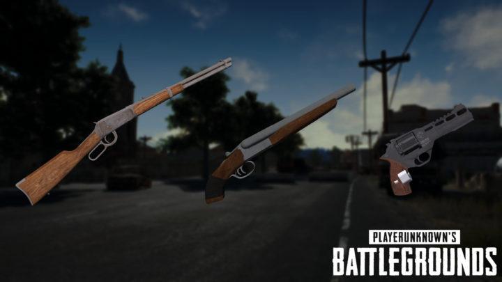 "PUBG: 3種の新武器「レバーアクションライフル」「ソードオフ・ショットガン」「リボルバー」の画像リーク、""砂漠""ミニマップ最新版画像も"