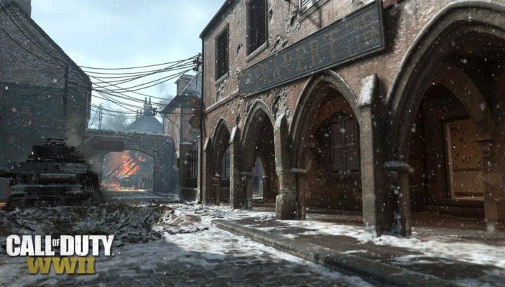 CoD:WWII: マップ「Carentan」の冬バージョン画像公開