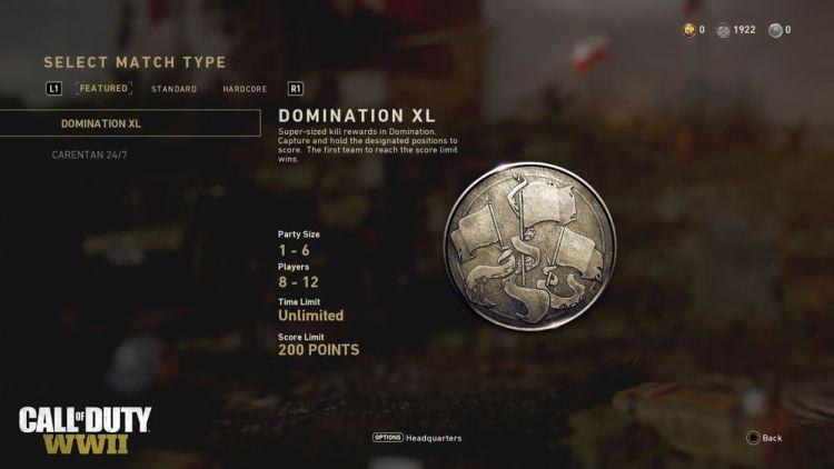 CoD:WWII:キルスコアが倍になる「ドミネーション XL」は3月末に開催へ
