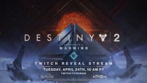 Destiny 2:拡張コンテンツ第2弾「ウォーマインド」お披露目予告トレーラー公開、4月25日午前2時配信