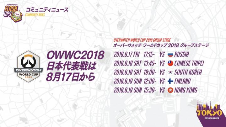 OWWC スケジュール