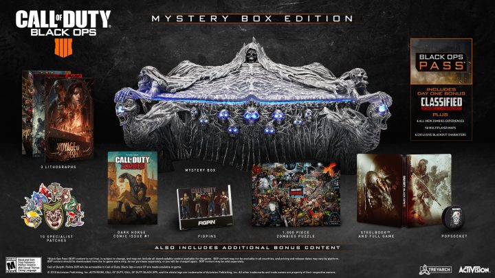 CoD:BO4:豪華コレクターズエディション「ミステリーボックス」発表、大迫力な公式ポスター3枚も