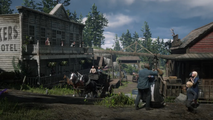 Red Dead Redemption2 レッド・デッド・リデンプション2 街