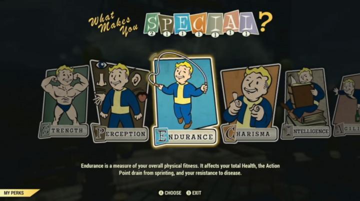 Fallout 76 S.P.E.C.I.A.L.