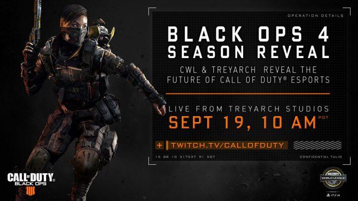 『CoD:BO4』の「Call of Duty World League(CWL)」シーズンの詳細が9月20日午前2時から公開