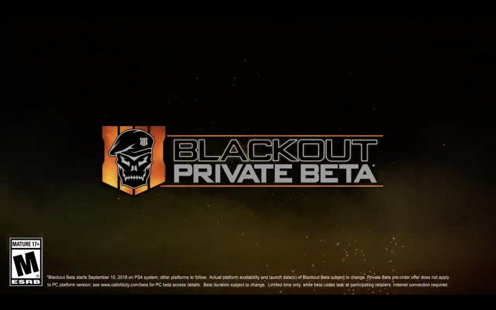 CoD:BO4:バトロワ「ブラックアウト」ベータは9月11日から9月18日まで