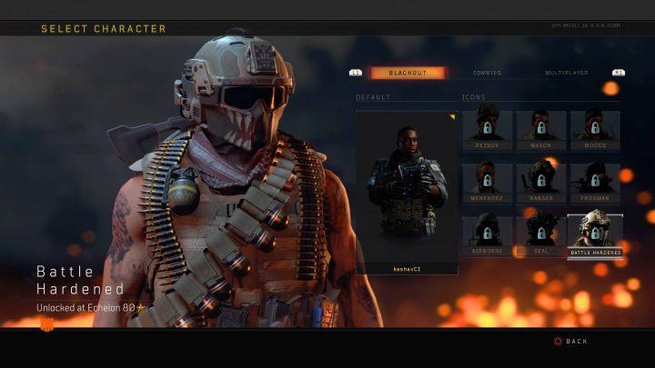 CoD:BO4:「ブラックアウト」で20レベルアップごとに獲得できる5種のキャラクター