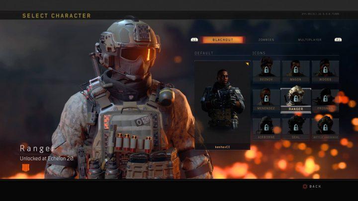 CoD:BO4:20レベルアップごとに獲得できる5種のキャラクター
