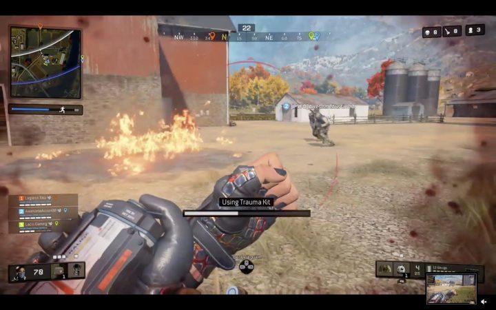 CoD:BO4: 「ブラックアウト」でモルトフ直後に外傷用キットを使うとボーナス体力が得られない