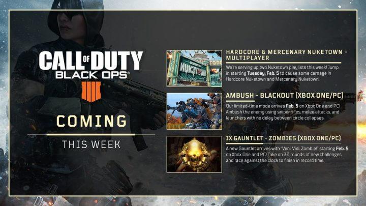 CoD:BO4: 今週のスケジュール発表、「Nuketown」プレイリストとXbox One/PCに怒涛のコンテンツ追加など
