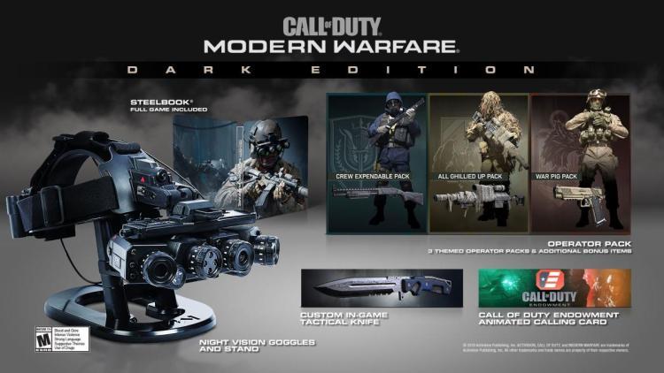 CoD:MW:超豪華版「Dark Edition」の発売を公式が発表、超多機能な暗視ゴーグル以外の特典内容も明らかに