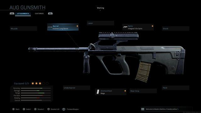CoD:MW:ガンスミスで再現可能な人気武器13種(M16/Honey Badger/AK-74u/RPK/MP5SD/Mk14など)