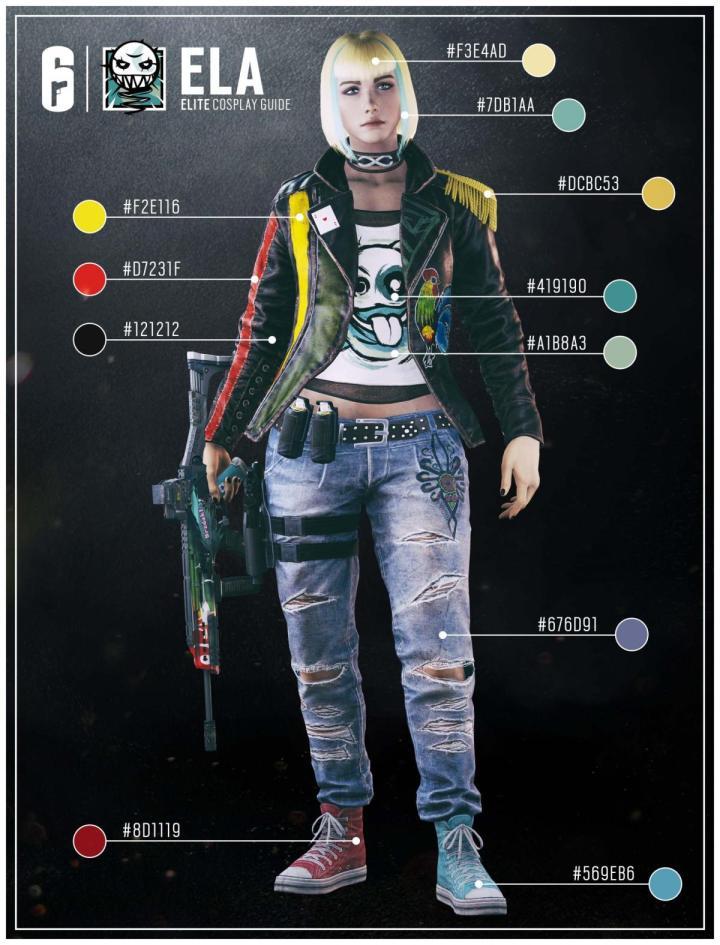 レインボーシックス シージ:Elaのエリートスキン「Huk Sztuk」販売開始、芸術家の一面が見られるバックストーリーも公開