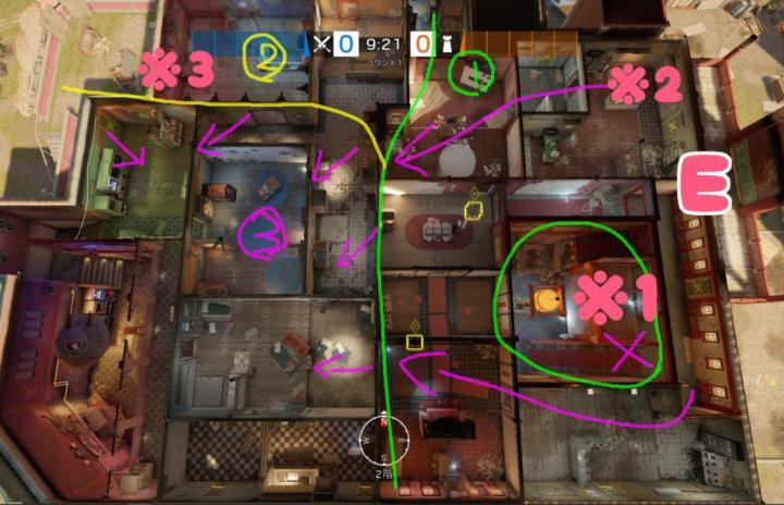 宿舎・デイケアの攻撃 略図