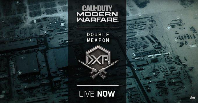 CoD:MW:ダブル武器XP開催、アタッチメントを揃えるチャンス