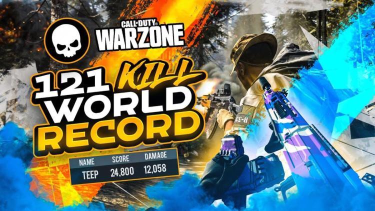 CoD:Warzone 世界記録:1試合に121キル達成映像