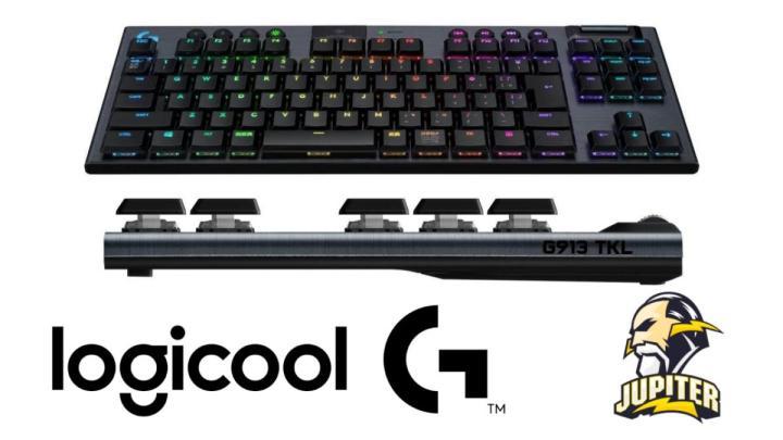 ロジクール:薄型無線ゲーミングキーボード「G913 テンキーレスワイヤレスRGBゲーミングキーボード」発売、eスポーツチーム「JUPITER」とのスポンサー契約締結も