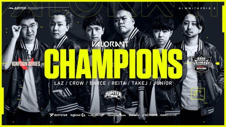 ヴァロラント:「RAGE VALORANT Japan Invitational」優勝はJupiter、1マップも落とさない絶対王者