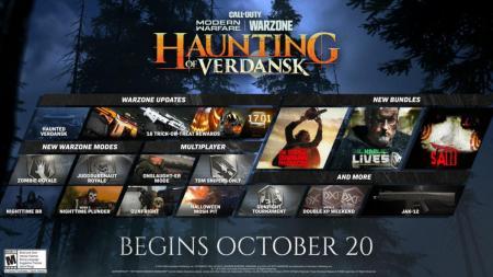 CoD:MW&ウォーゾーン:ハロウィンイベント「The Haunting of Verdansk」が現地時間10月20日スタート、ゾンビとなって夜のウォーゾーンを駆け回れ