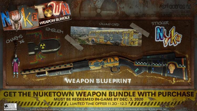 "CoD:BOCW:アイテム10種収録の""NUKETOWN武器バンドル""全プレイヤーにプレゼント、日本時間11月21日午前5時より"