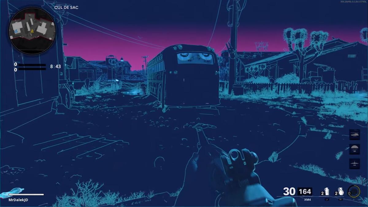 CoD:BOCW:マップ「Nuketown '84」のマネキンイースターエッグ早速発見、80年代風フィルター?!