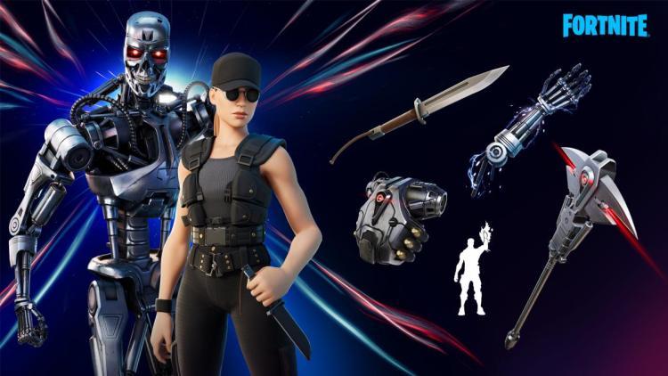 『フォートナイト』と映画「ターミネーター」がコラボ、サラ・コナーとT-800がアイテムショップに登場