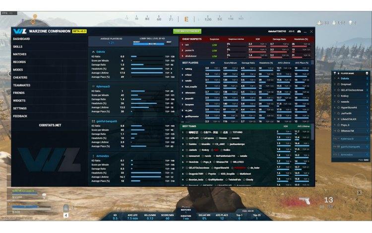 CoD:ウォーゾーン:便利な非公式トラッキング・アプリ「Warzone Companion」、全プレイヤーをトラッキング可能で不正横行の懸念も
