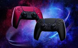 PS5:2種の新色ワイヤレスコントローラー「ミッドナイト ブラック」「コズミック レッド」順次予約開始、6月10日発売