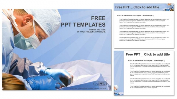 Veterinarian surgery in operation room PowerPoint Templates