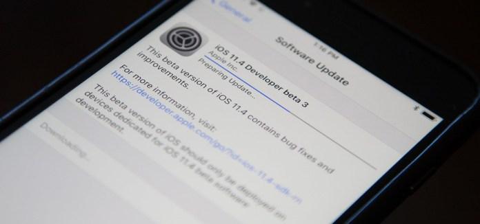 Apple chính thức phát hành bản cập nhật iOS 11.4 beta 3