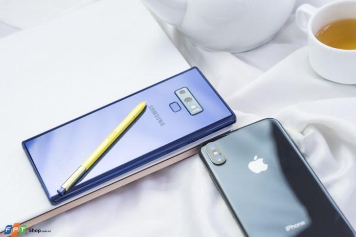 Galaxy Note 9 đọ sắc cùng iPhone X: Song long tranh đấu