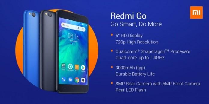 Redmi Go chính thức ra mắt với mức giá chỉ từ 2.1 triệu đồng