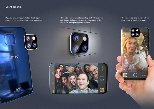 Vivo NEX 2 sẽ sử dụng camera dạng module với 4 ống kính 2