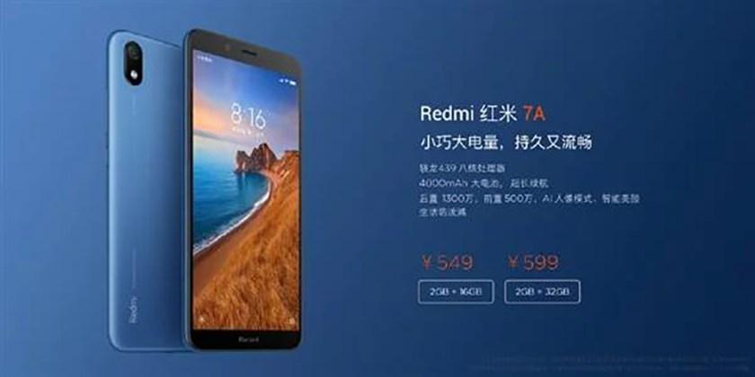 Giá bán Redmi 7A