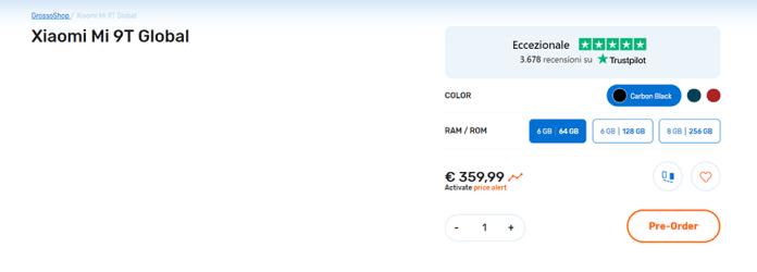 Xiaomi Mi 9T được liệt kê trên trang web bán hàng (ảnh 1)