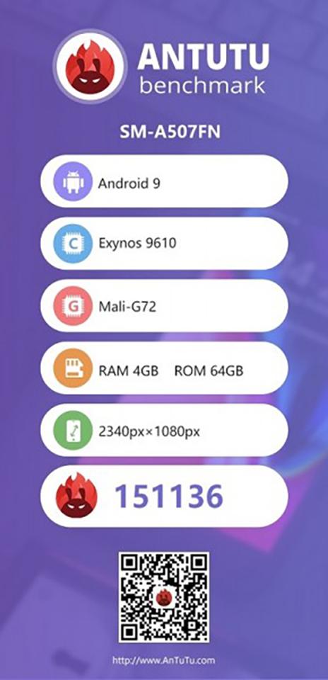 Galaxy A50s lộ cấu hình trên AnTuTu