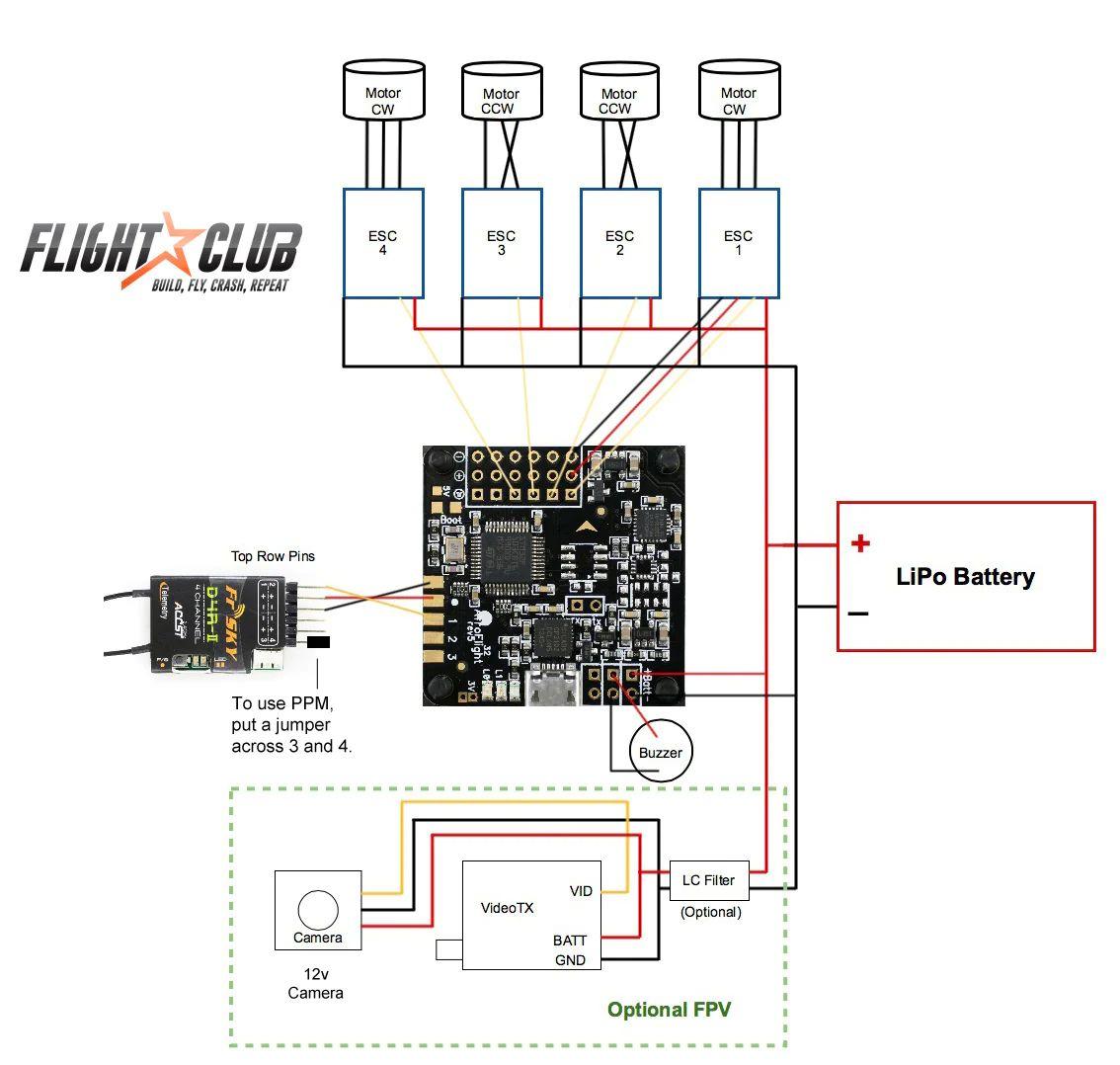 fpv quadcopter naze32 wiring diagram