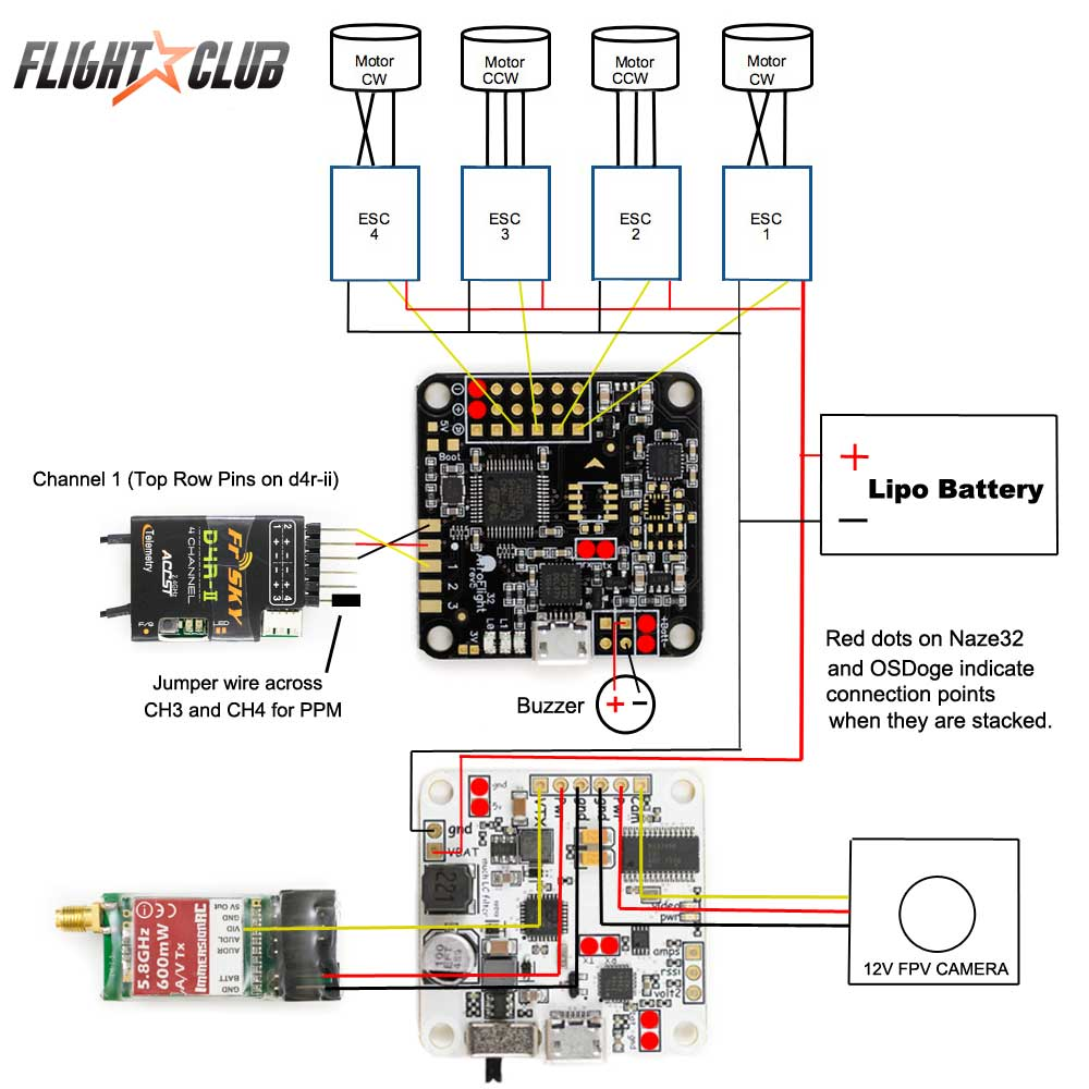 hight resolution of learn how to build a lumenier qav250 quadcopter acro naze32 wiring diagram acro naze32 wiring