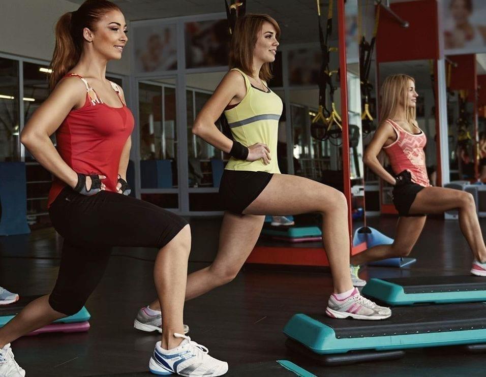 women doing aerobics together